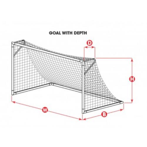Kwik Goal Premier Soccer Net (8'H x 24'W x 3'D x 8 ½'B)